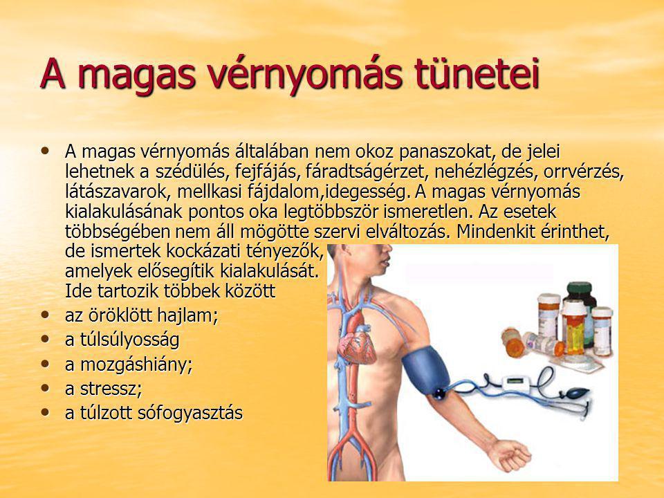 a magas vérnyomás tüneteinek okai)