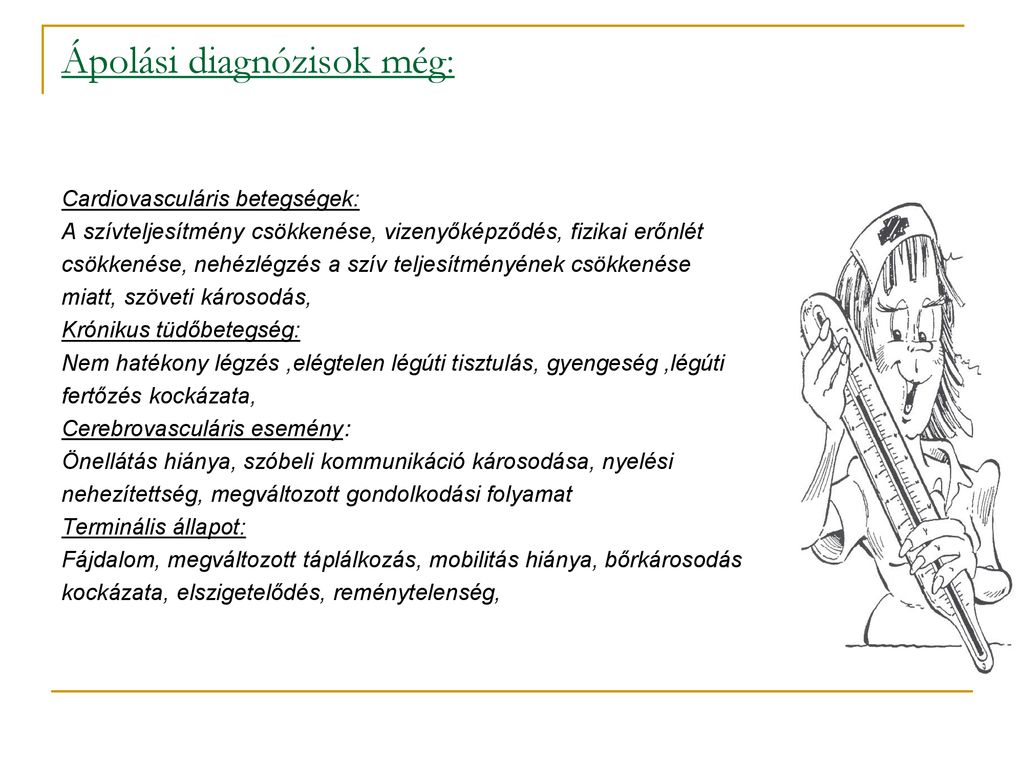 a magas vérnyomás ápolási diagnózisa