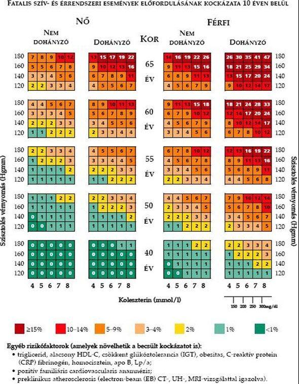 magas vérnyomás kockázati fokozat 3