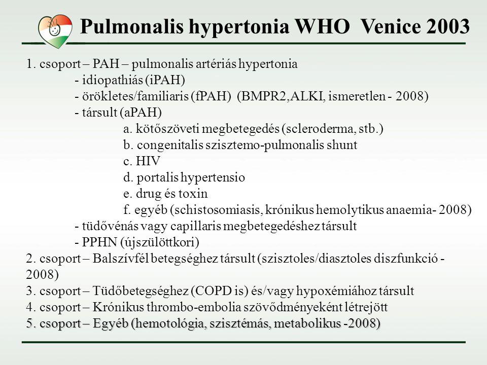 ajánlások a pulmonalis hipertónia kezelésére
