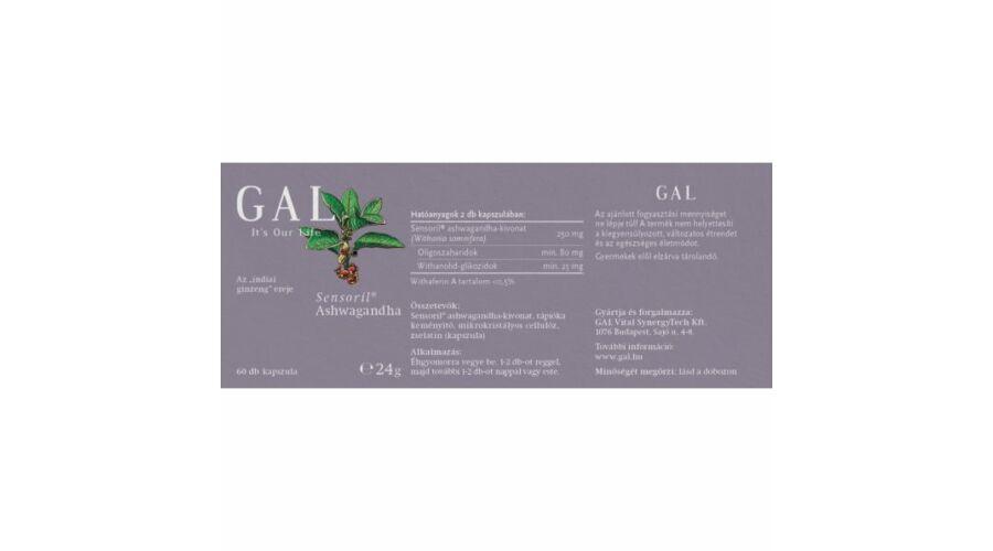 GAL Sensoril Ashwagandha (60 kapszula) - NUTRITOR Webshop