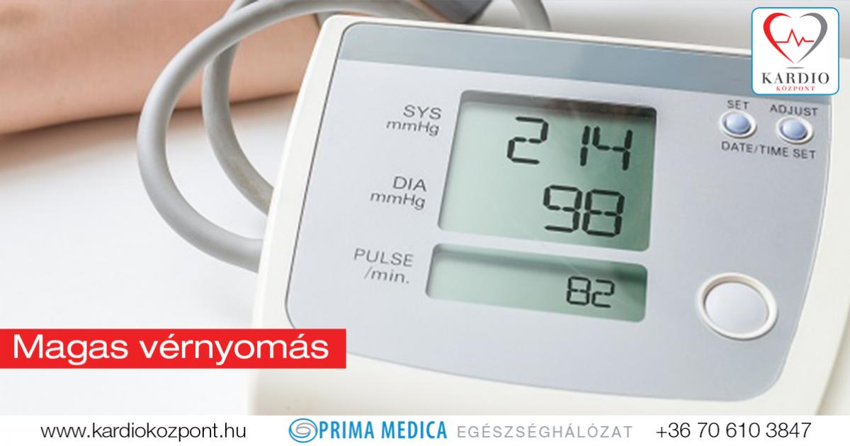 magas vérnyomás kezelésére és megelőzésére