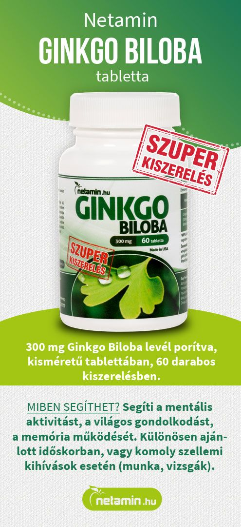 Ginkgo biloba pozitív élettani hatásai | Kapszula Center