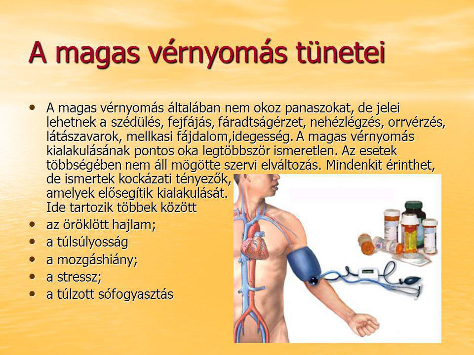 a hipertónia kialakulásának kockázata