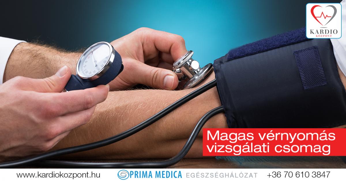 magas vérnyomás vizsgálat kardiológus által