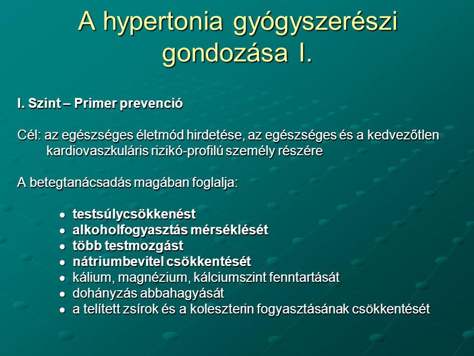 hipertónia kezelésének módja 1 fok)