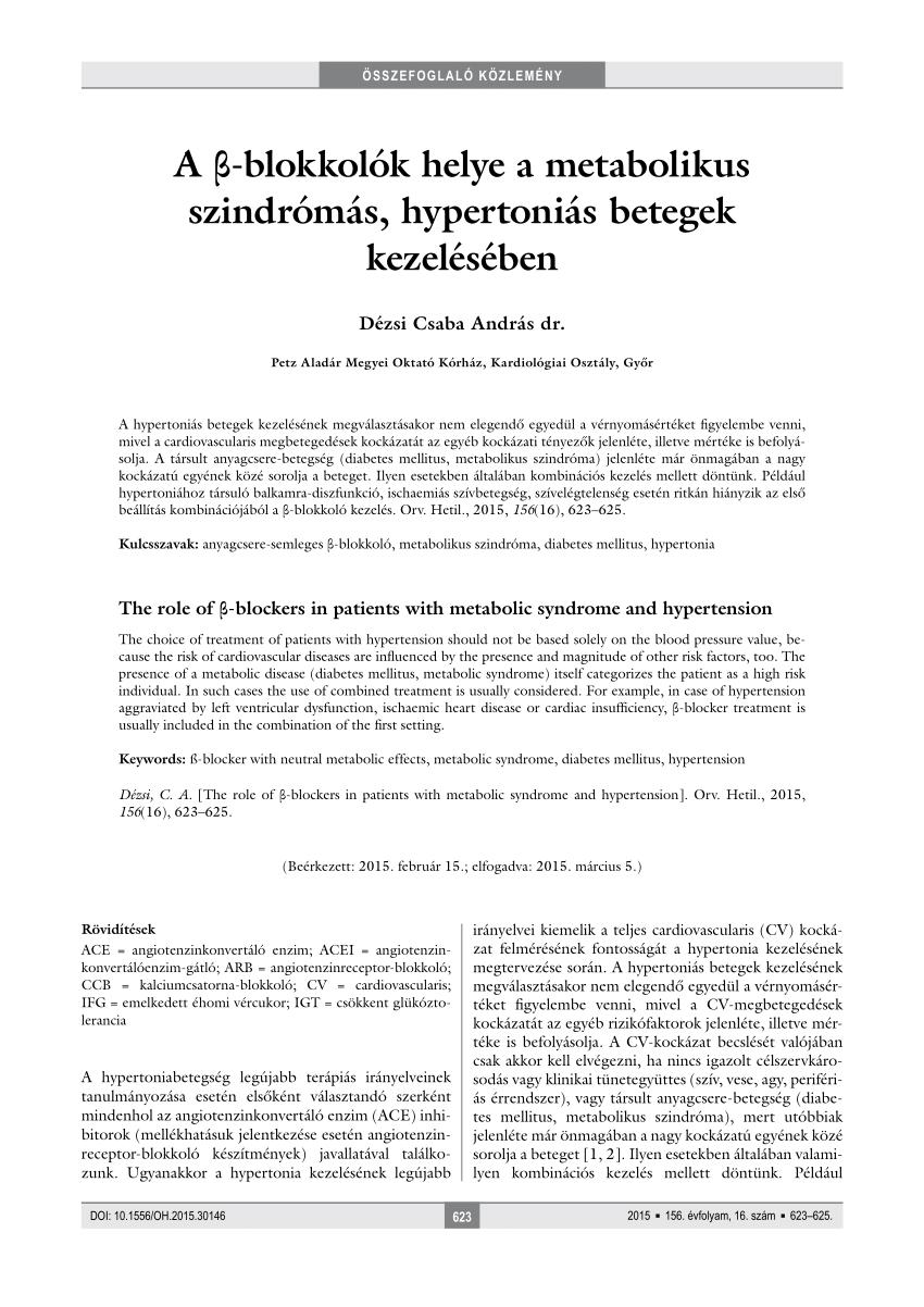 dekompenzált hipertónia