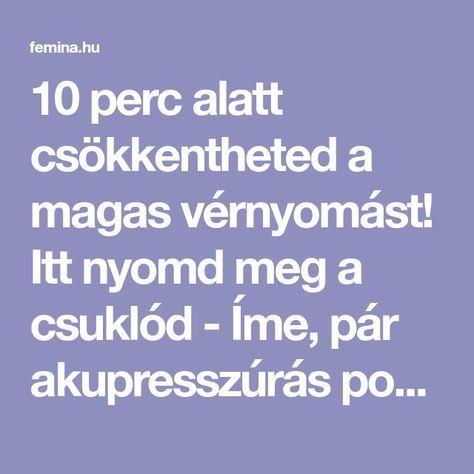 magas vérnyomás-üzenetek)