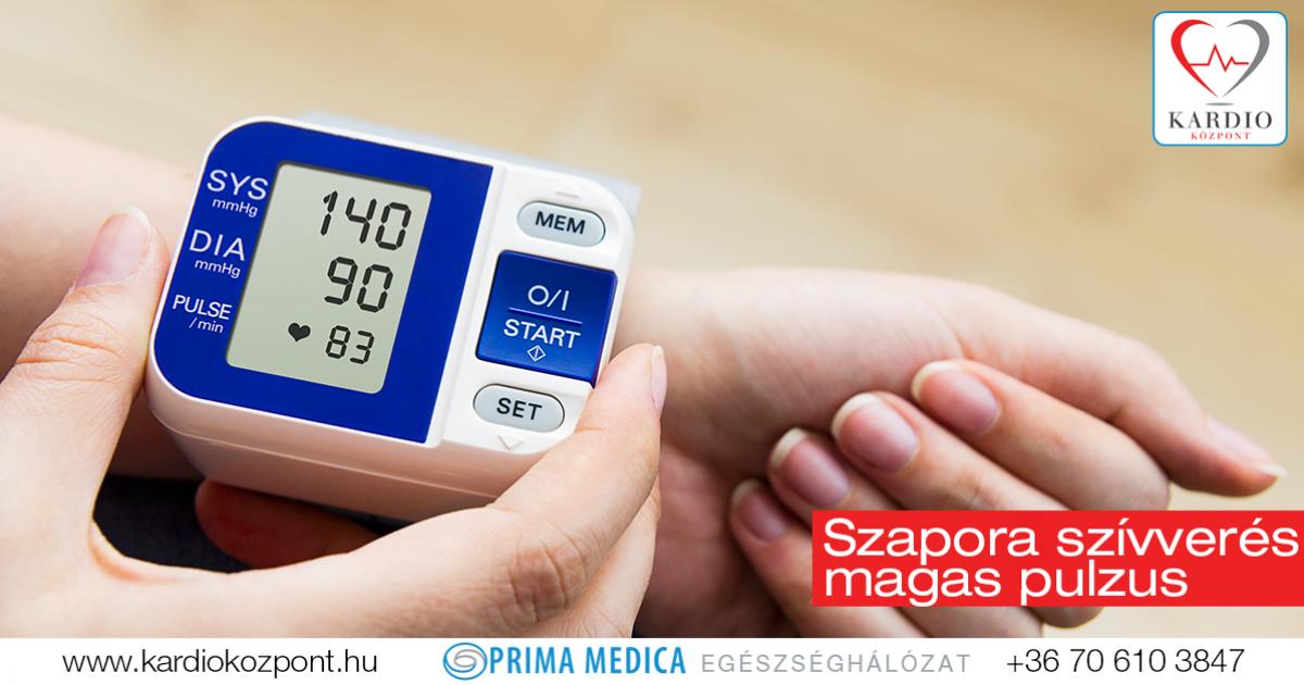 magas vérnyomás 100 ütés / perc)