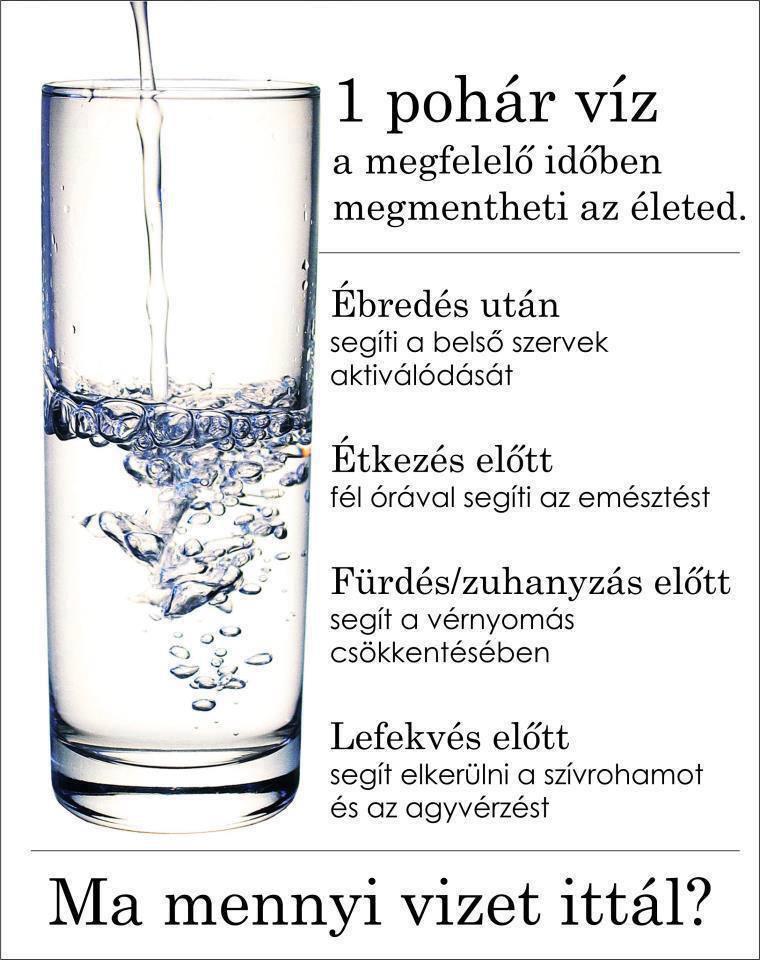 magas vérnyomás esetén mennyi vizet kell inni naponta karkötők magas vérnyomás ellen